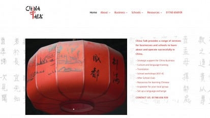 China Talk Website Design